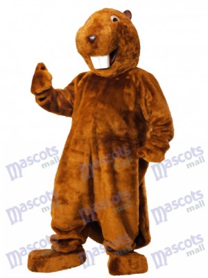 Brown Beaver Mascot Costume Animal