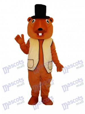 Beaver Mascot Adult Costume Animal