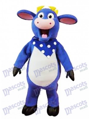 Blue Benny The Bull Mascot Funny Costume