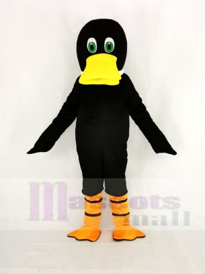 Black Duck Duckbill Mascot Costume Cartoon