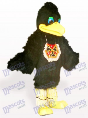 Black Hair Bird Animal Adult Mascot Costume