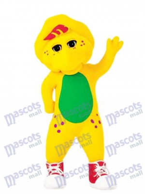 Funny Barney Baby Bop Bj Yellow Male Protoceratops Mascot Costume Cartoon Anime