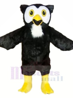 Black Owl with Yellow Feet Mascot Costumes Animal