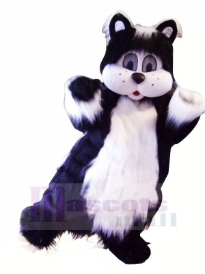 Black and White Cat with Big Eyes Mascot Costumes Animal