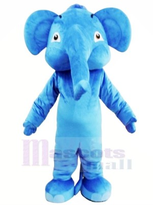 Blue Adult Elephant Mascot Costumes Animal