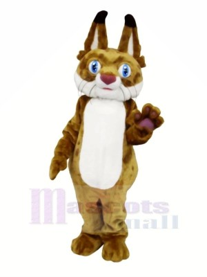 Bobcat with Big Eyes Mascot Costumes Animal