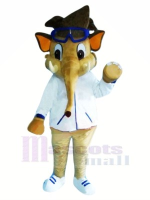 Boy Elephant with Glasses Mascot Costumes Animal