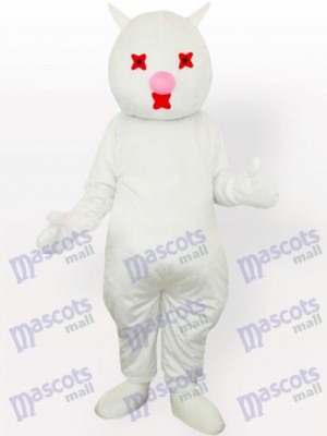 White Cat Adult Mascot Costume