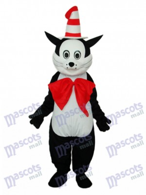 Black Cat with Hat Mascot Adult Costume Animal