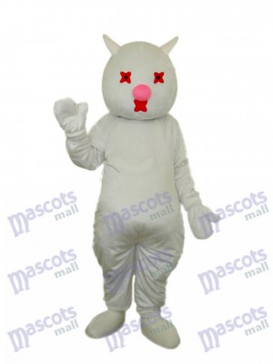 White Cat Mascot Adult Costume Animal