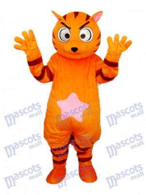 Orange Star Cat Mascot Adult Costume Animal