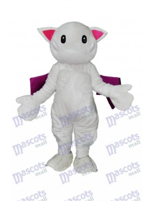 Scary Teeth White Monster Cat Mascot Costume Animal