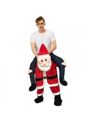Blushing Santa Claus Carry me Ride on Halloween Christmas Costume for Adult/Kid