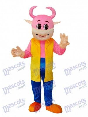 No.1 Cow Mascot Adult Costume Animal