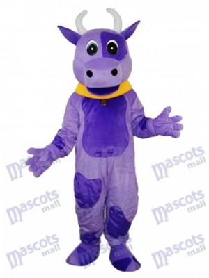Purple Cow Mascot Adult Costume Animal