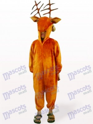 Coffee Deer Open Face Kids Animal Mascot Costume