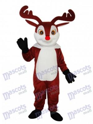 Little Brown Sika Deer Mascot Adult Costume Animal