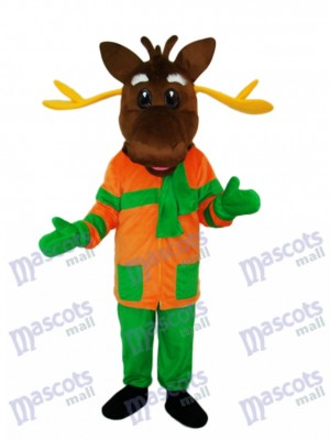 Christmas Deer Mascot Adult Costume Animal
