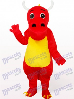 Dinosaur In Red Clothes Mascot Costume