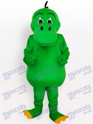 Green Dinosaur Adult Mascot Costume