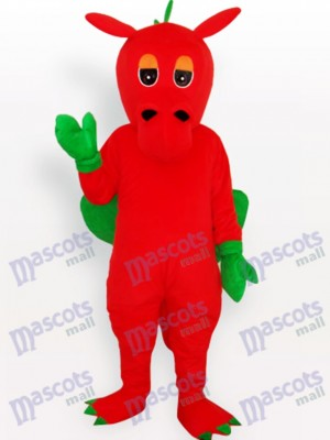 Red Dinosaur Animal Adult Mascot Costume