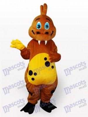 Gold Dinosaur Animal Adult Mascot Costume