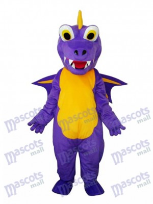 Long Thorn Purple Dinosaur Mascot Adult Costume Animal