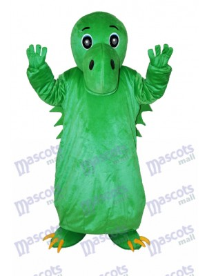 Green Chinese Dinosaur Adult Mascot Costume Animal