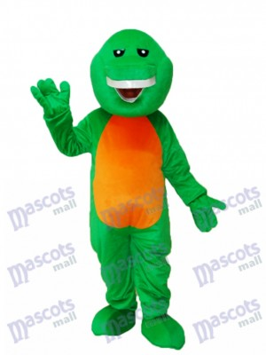 Green Barney Dinosaur Mascot Adult Costume Animal