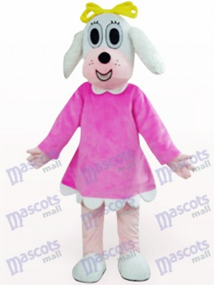 Female Dog In Fuchsia Clothes Animal Mascot Costume
