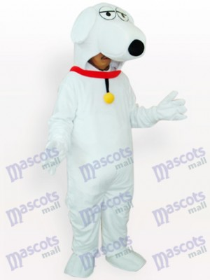 White Dog Animal Adult Mascot Costume