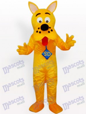 Yellow Dog Animal Adult Mascot Costume