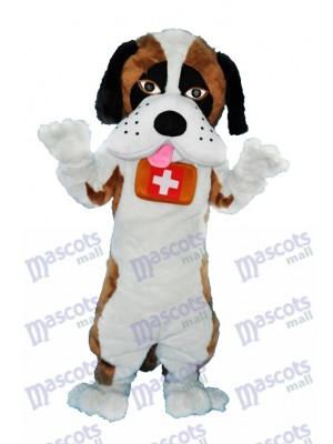 Saint Bernard Dog Mascot Adult Costume Animal