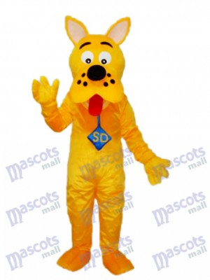 Yellow Scooby-Doo Dog Mascot Adult Costume Animal