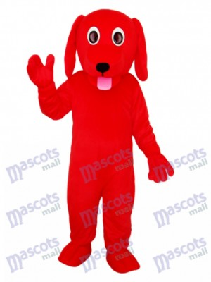 Little Red Dog Mascot Adult Costume Animal