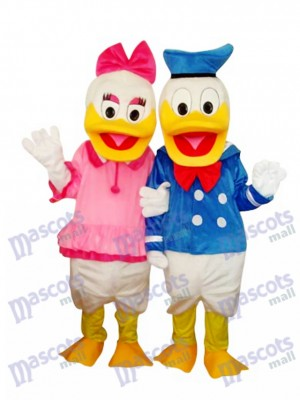 Donald Duck Couple Mascot Adult Costume Cartoon Anime