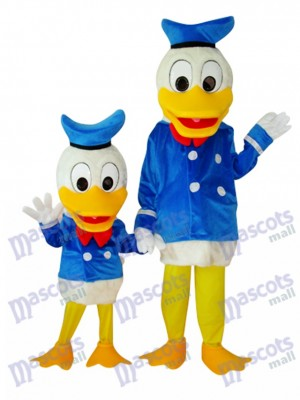 Child and Adult Donald Duck Mascot Costume Cartoon Anime