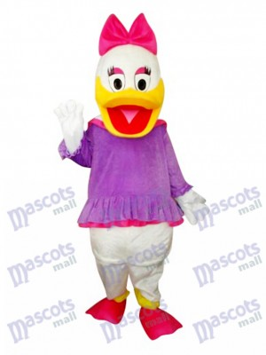 Purple Daisy Duck Mascot Costume Cartoon Anime