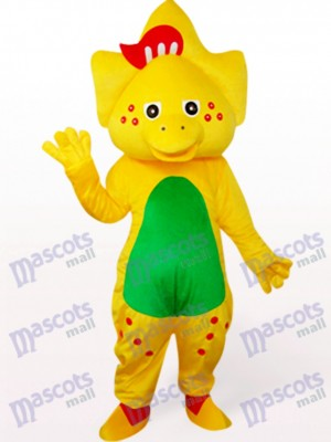Star Dragon In Yellow Mascot Costume