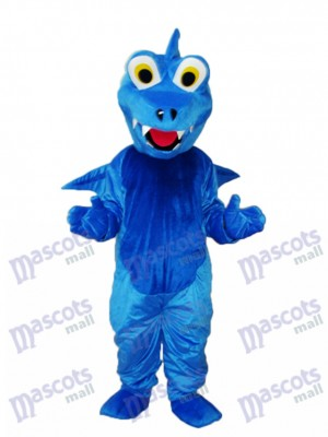 Blue Thorn Dragon Mascot Adult Costume Animal