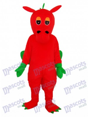Red Dragon Mascot Adult Costume Animal