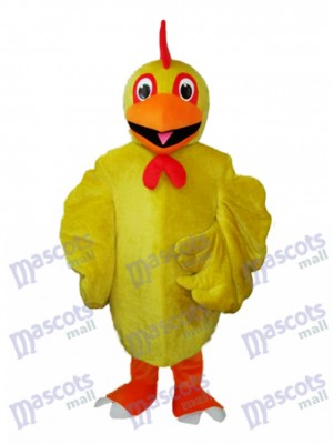 Yellow Chicken Adult Mascot Costume Animal