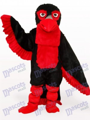 Black Long Hair Eagle Adult Mascot Costume