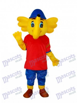 Yellow Big Elephant Mascot Adult Costume Animal