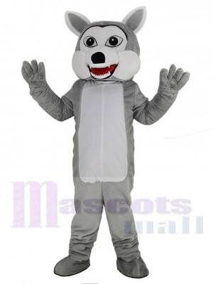 Funny Gray Wolf Mascot Costume Animal
