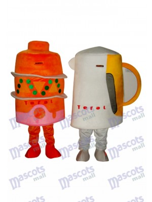 2 Cups Mascot Adult Costume