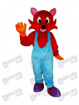 Red Fox Mascot Adult Costume Animal