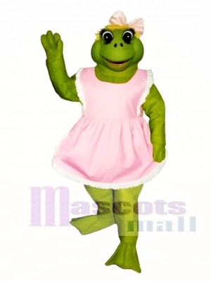 Fern Frog with Apron & Bow Mascot Costume Animal