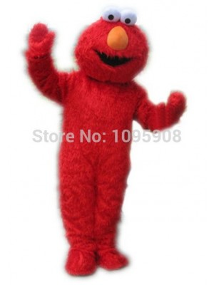 Sesame Street Long Fur Monster Elmo Mascot Costume Cartoon Party Carnival Halloween Christmas