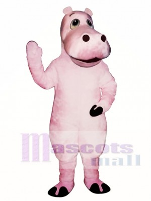 Cute Heidi Hippo Mascot Costume Animal